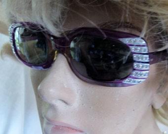 Rhinestone Eyeglasses 1960 Sunglasses Hollywood Regency 1950 Eyeglasses