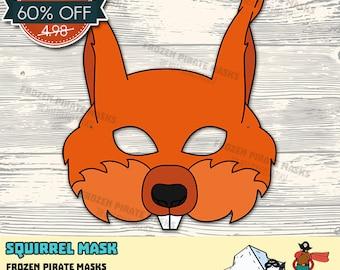 60% OFF SALE Squirrel Printable Mask