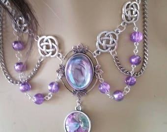Lavender Necklace of the Arcane Priestess elven druid bridal cosplay fashion Sorceress