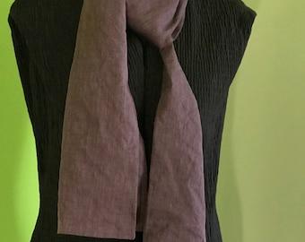 Double shantung silk scarf