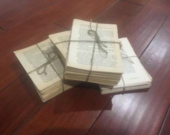 Twine Bound Book Page Bundles - Unique Home Decor, Photo Prop, Wedding, Coffee Table, Bookshelf,  Entry Table