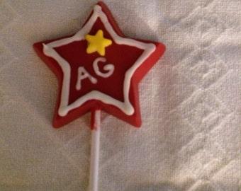 American girl star lollipops.  Set of 6