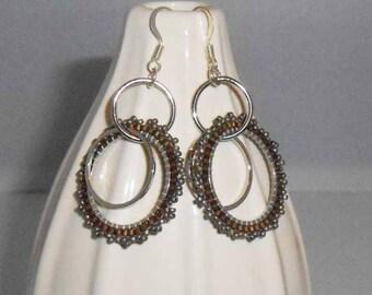 Gold & Silver Double Hoop Earrings