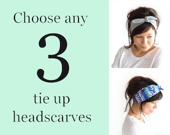 Any 3 Tie Up Headscarves