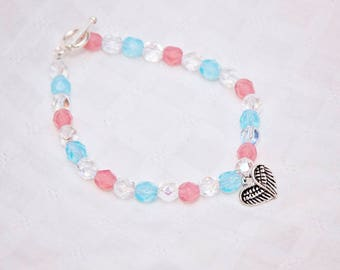 Angel baby bracelet, angel baby jewelry, miscarriage awareness, charm bracelet miscarriage, gift for friend, in memory of, infant loss