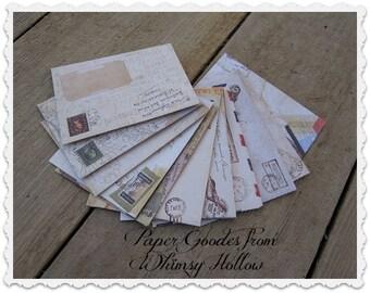 Vintage Mini Envelopes Pack of 12 - Whimsy Hollow