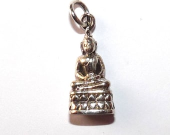 925 sterling silver Buddha pendant for creating zen jewelry ring