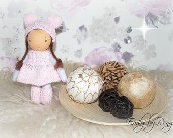 Waldorf doll, waldorf inspired doll, steiner doll, doll waldorf, waldorf valentines gift, cloth doll, fabric doll, cuddle doll, handmade
