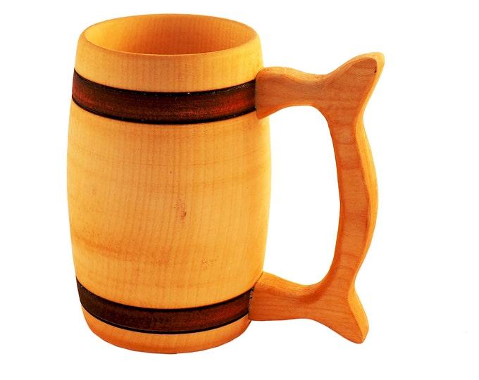 Wooden Beer Mug 1/2 litre beer mug wooden cup wooden drinking mug historical mug  rustic mug medieval replica Game of Thrones