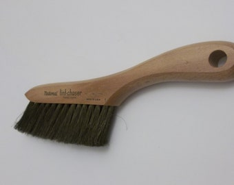 National Lint Chaser Lint Brush Made in USA Wood Handle