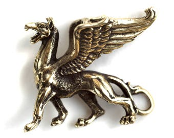 Griffin figurine Griffin pendant Griffin statuette Gryphon pendant Gryphon jewelry Pendant necklace Mythology Griffin necklace Statuette