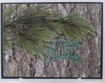 Pine Cone Happy Birthday Card