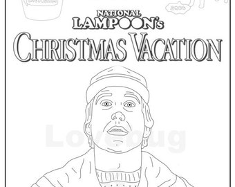 National Lampoons Christmas Vacation Adult Coloring Book Instant Print Download Digital File