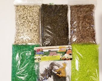 Horses Sensory Bin: Spring Sensory Bin, Montessori Toys, Sensory Bin Activity, Play Time for Toddlers, Discovery Learning, Pretend Play