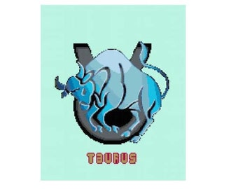 Taurus Cross Stitch Chart