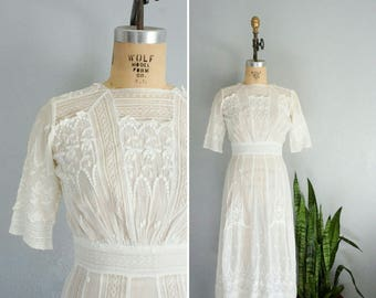 edwardian Amour Eternel cotton dress | vintage edwardian dress | 1910s cotton dress
