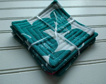Set of 4 Quilted Coasters - Lotta Patchwork