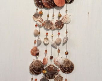 Handmade wind chimes made with exotic seashells