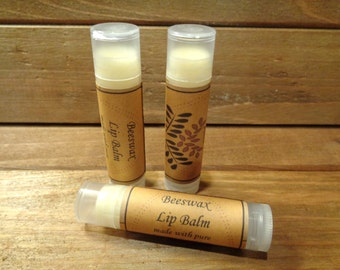 3 beeswax honey flavored lip balm