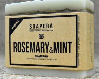 Rosemary & Mint Shampoo Bar for all types of hair - Soap Era all natural handmade vegan soap