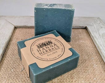 Turquoise Dreams - 4 ounce soap - Unisex Scent - Hanna Herbals - Indigo Soap