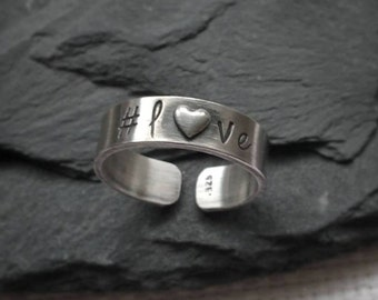 Personalized Thumb Ring. Xmas gifts. xmas. Christmas. Gift for women. Sterling Silver thumb rings. Silver thumb ring. Thumb rings for women