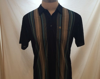 70s New Ace vintage polyester short sleeve shirt, size unknown — Made in Korea