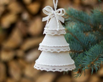 Winter decor, White Christmas tree decorations, Holiday home decor, Xmas decorations, Christmas tree ornaments