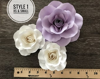 PDF file for Style 1: Extra small and Small Rose Templates (CUT & TRACE)