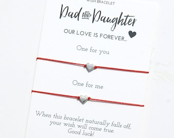 Father Daughter Wish Bracelet Dad and Daughter Father Daughter Gift from Daughter Fathers Day Gift for Dad Matching  Bracelet for 2