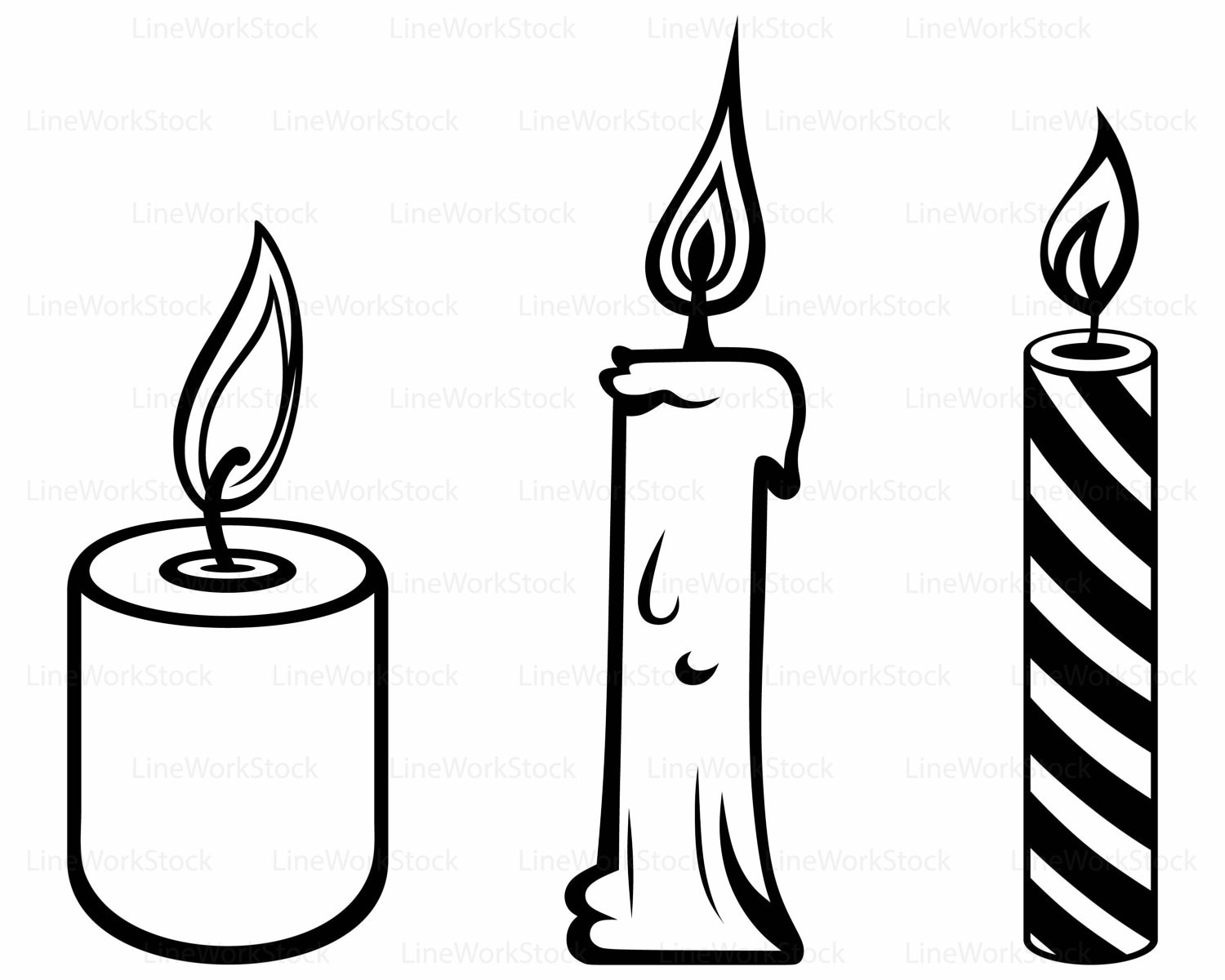 Candles svg/clipart/candle svg/candles silhouette/candle cricut cut ... for Candle Clip Art Black And White  56bof