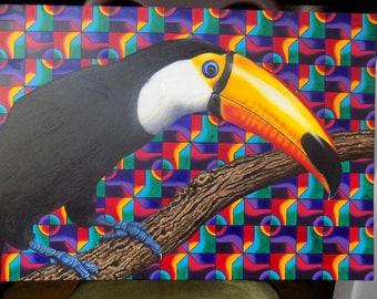 Tucano - Oil painting