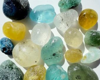 English sea glass - textured/bonfire type glass
