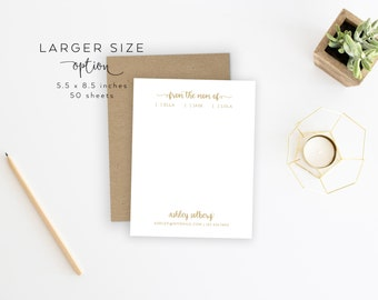 LARGER SIZE   From the Mom Of Notepad. Mom Of Notepad. Mom/Dad Notepad. Parent Notepad. Personalized Notepad. Personalized. Mom Stationery.