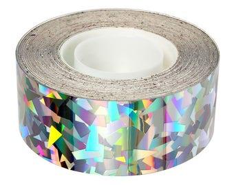 silver glitter - silver shiny scotch tape 9 m