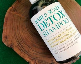 Hair and Scalp Detox Shampoo / Champú Herbal Desintoxicante