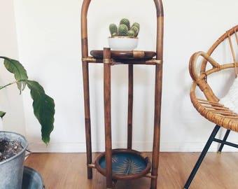 Porte plant rattan - decor gift