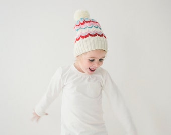 PDF Knitting Pattern to Knit Your Own Hat at Home - KEATON Slouch Beanie for 12M to Adult.