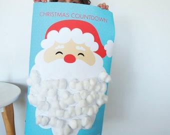 Christmas Calendar Santa Countdown | A2 Blue Pack | Advent Calendar | Santa's Beard | Tomfo | Xmas calendar |