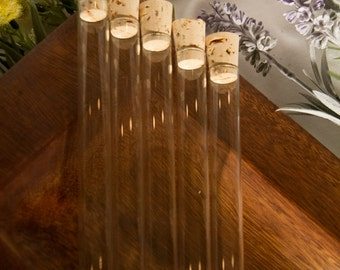 100 glass test tubes with corks