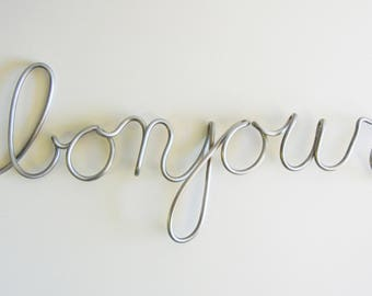 "Big clearance SALE, ""bonjour"" word sculpture"