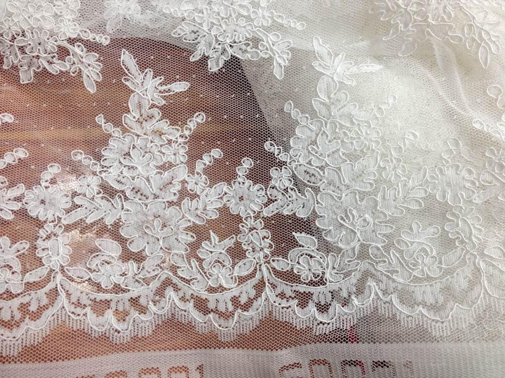 Groß Spitze Brautkleid Stoff Bilder - Brautkleider Ideen - cashingy.info