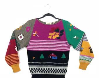 80s Sweater | Folk Art De Rotchild