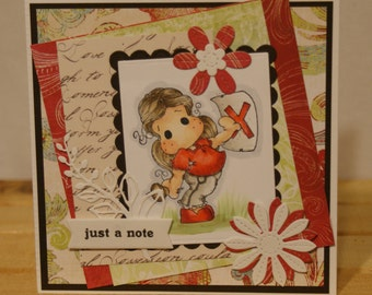 Tilda Just A Note Greeting Card