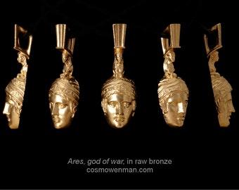 Ares, god of war, necklace pendant (facing foward)