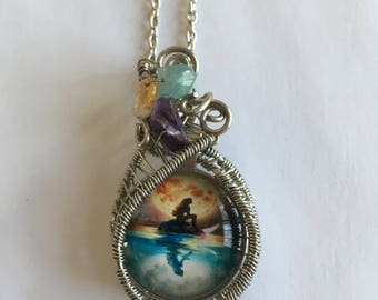 Mermaid Wire-Wrapped Necklace