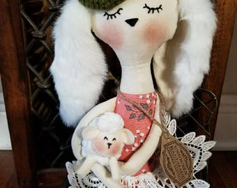 My doll friend with sheep