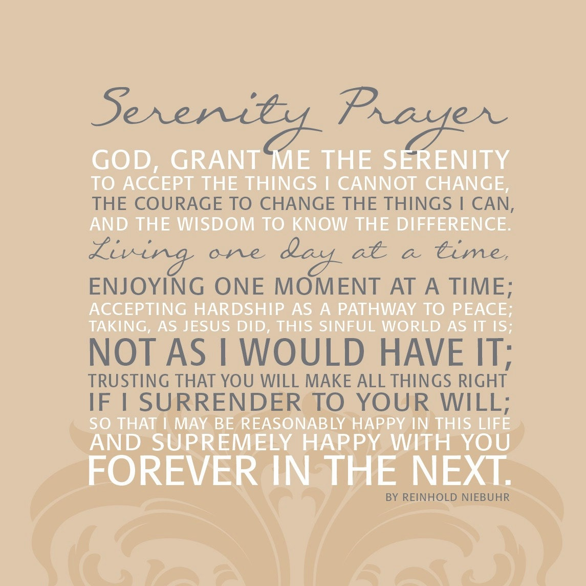 serenity prayer full text