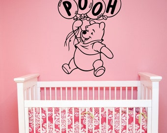 Winnie The Pooh Wall Decal Vinyl Sticker Disney Art Birthday Decorations for Home Kids Boys Girls Room Nursery Decor wtpo2