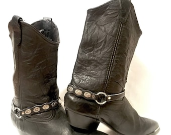 Steel Toe Black Cowgirl boots